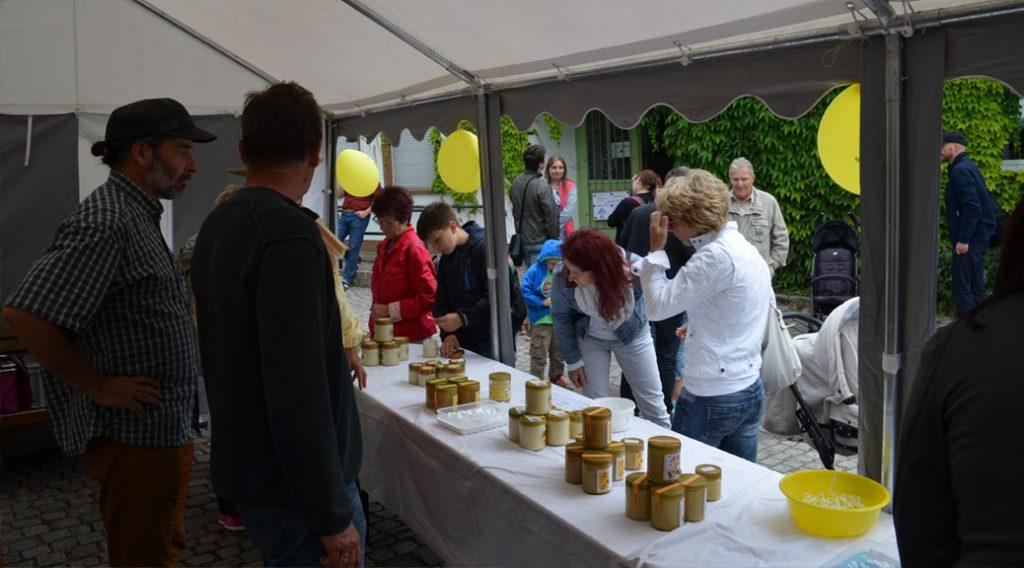 Honigverkostung + Honigverkauf beim Imkertag 2017