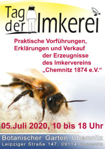 Plakat zum Tag der Imkerei am 5.Juli 2020